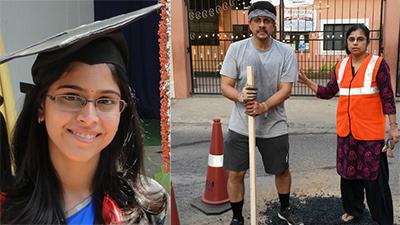 Con gái mất vì tai nạn, đôi vợ chồng quyết định thực hiện dự án dọn đường, lấp ổ gà để ngăn ngừa điều tương tự
