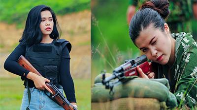 Xuất hiện trong chương trình bắn súng ở Việt Nam, 2 hotgirl người Nga gây sốt
