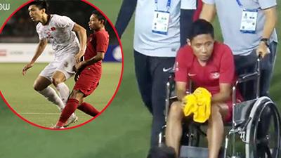Lý do khiến Instagram của Văn Hậu 'sáng nhất đêm': CĐV Indonesia chứng kiến cảnh cầu thủ 'con cưng' ngồi xe lăn rời sân?