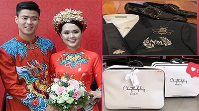 Hết khoe dàn khách mời 'khủng', Duy Mạnh - Quỳnh Anh tiết lộ loạt trang phục thiết kế riêng cho ngày cưới khiến dân mạng 'lác mắt'