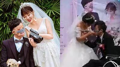Chú rể đeo khẩu trang, trao nhẫn cưới bằng miệng và câu chuyện bị hôn phu bỏ rơi 7 năm trước