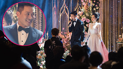 Duy Mạnh nắm chặt tay Quỳnh Anh hát 'Điều ước giản đơn' giữa khung cảnh cực xa hoa, nhưng bất ngờ bị 'cướp sóng' vào phút chót