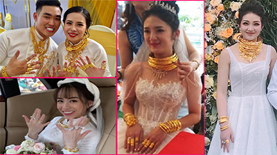 Cô dâu được tặng 49 cây vàng cùng 2,5 tỷ đồng trong ngày cưới: Tưởng 'khủng' nhưng vẫn còn người khác 'chói lóa' hơn