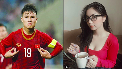 'Thả tim' ảnh nóng bỏng của Nhật Lê, Quang Hải khiến fan phấn khích