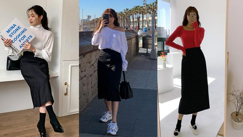 Chân váy đen dễ mặc mà cũng dễ nhạt, nhưng bạn áp dụng loạt ý tưởng sau thì xịn đẹp phải biết