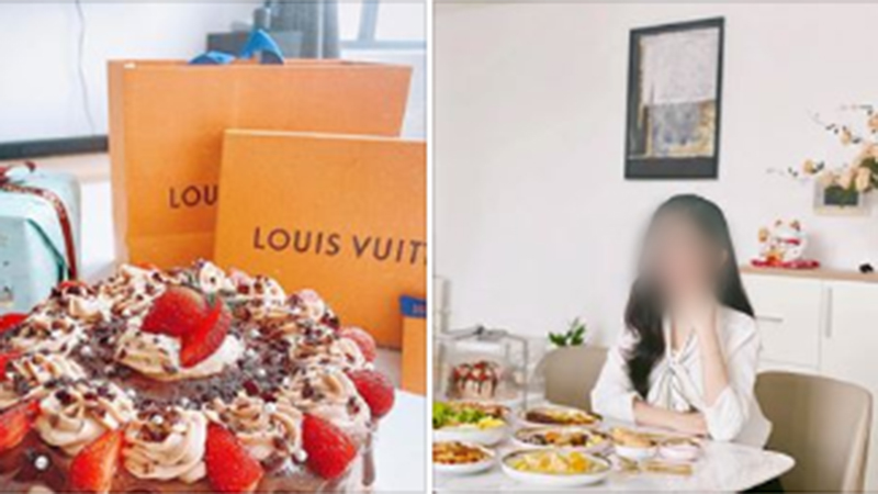 Khoe tự làm tiệc sinh nhật tại gia cho bạn trai sang chảnh kiểu Âu không thua nhà hàng, cô gái bị dân mạng bóc mẽ order đồ có sẵn, còn người yêu thì bị 'trùng'