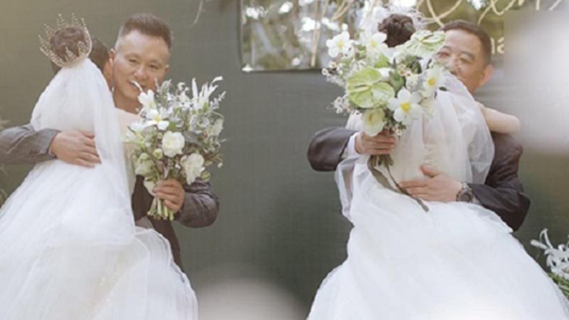 Khoảnh khắc 2 ông bố cùng dắt 2 cô con gái lên lễ đường trong đám cưới của cặp đồng tính nữ gây xúc động mạnh