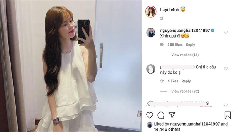 Huỳnh Anh đăng ảnh, Quang Hải vào comment thắm thiết thế này bảo sao scandal cũng không chia cắt được đôi trẻ