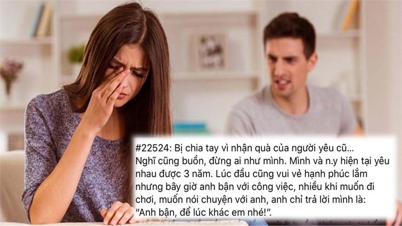 Bị người yêu 3 năm chia tay vì nhận quà từ bạn trai cũ, cô gái đăng đàn trách móc 'tình ngay lý gian'