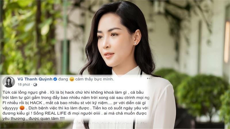 Instagram bị hack nhưng vẫn bị antifan 'xỉa xói' chuyện tình cảm, Vũ Thanh Quỳnh bức xúc: 'Tiền không có suốt ngày yêu đương kiểu gì?'