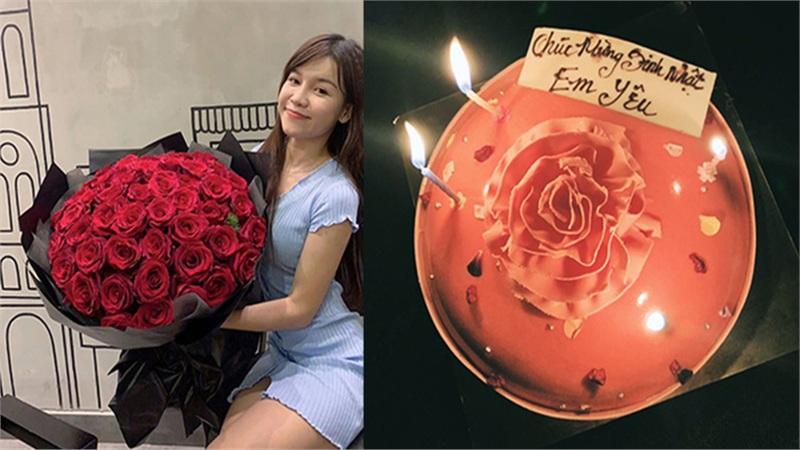Đặng Văn Lâm tặng hoa và bánh mừng sinh nhật Yến Xuân