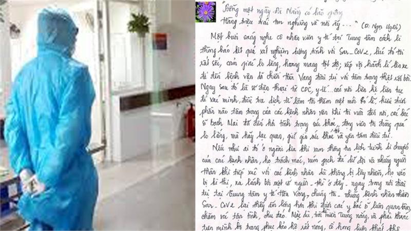 Bức thư xúc động của bệnh nhân khỏi COVID-19 gửi đội ngũ thầy thuốc