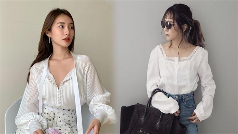 Mách bạn 8 kiểu áo blouse dài tay chuẩn trend trong thời điểm giao mùa này