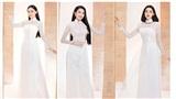 Cận cảnh nhan sắc Top 60 Hoa Hậu Việt Nam 2020 trongcác bộ áo dài trắng tinh khôi