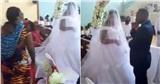 Người phụ nữ mang con xông vào hôn trường tuyên bố chú rể là chồng mình, thái độ của cô dâu còn sốc hơn