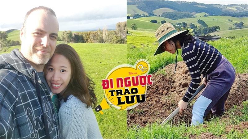 Thiếu nữ Hà thành bỏ việc theo chồng ngoại quốc về vùng nông thôn Úc, ngày ngày cuốc đất, nuôi bò