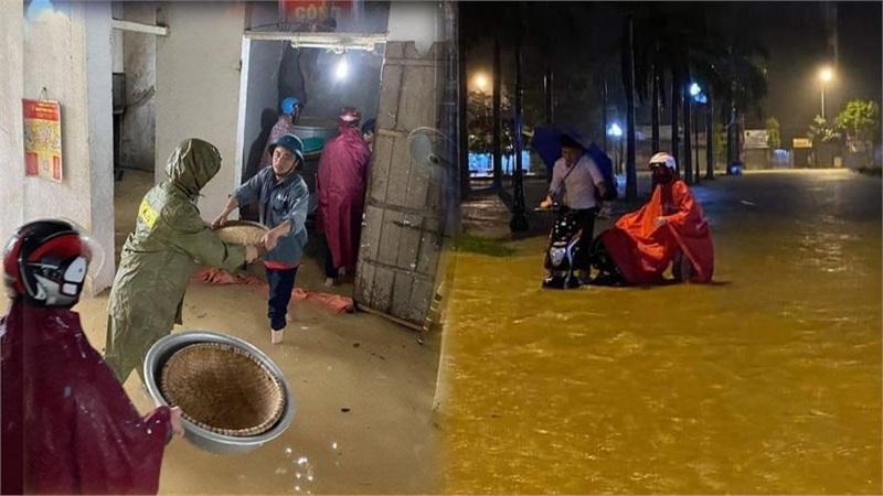 Nước lũ ở Nghệ An chưa rút, nhiều nơi ngập sâu trong nước