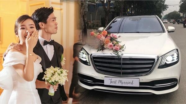 Công Phượng đón dâu bằng Mercedes, đoàn nhà gái 50 người lặn lội từ TP. HCM đưa cô dâu Viên Minh về nhà chồng