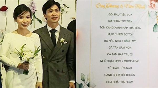 Thực đơn đám cưới Công Phượng: Liệu có thịt chuột, nhút mít, bánh đa Đô Lương như fan kỳ vọng?