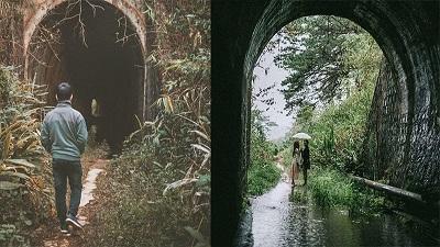 Địa điểm 'sống ảo' mới toanh ở Đà Lạt: Đường hầm xe lửa đẹp mộng mơ khiến giới trẻ 'rần rần' check-in