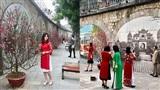 Chùm ảnh: Cận Tết, người dân Hà Nội rủ nhau check-in tại phố bích họa Phùng Hưng