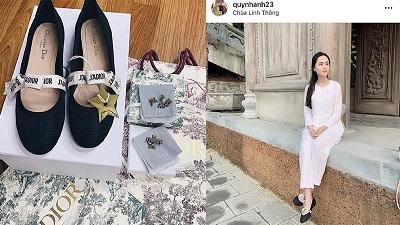'Công chúa béo' Quỳnh Anh diện đôi giày Duy Mạnh tặng mọi lúc mọi nơi, 'bạn gái nhà người ta' đây chứ đâu
