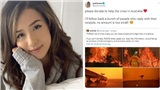 Streamer Pokimane và các Gamer, YouTuber đồng loạt kêu gọi quyên góp ủng hộ khắc phục cháy rừng tại Australia