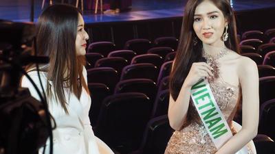 Không kém cạnh Hương Giang, Đỗ Nhật Hà tự tin trả lời phỏng vấn Tiếng Anh lưu loát trước thềm Hoa hậu Chuyển giới Quốc tế 2019
