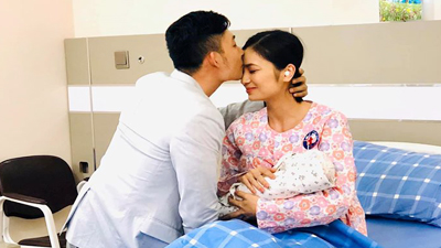 'Hoa hồng trên ngực trái': Lộ ảnh San - Khang đón con chào đời trong hạnh phúc viên mãn