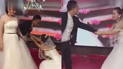 Người yêu cũ của chú rể mặc váy cưới tới 'làm loạn', thái độ của cô dâu khiến mọi người bất ngờ