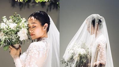 MC Phí Linh 'nhá hàng' ảnh cưới đẹp mơ màng khiến dàn sao Việt 'rần rần' vào chúc mừng