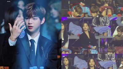 Kang Daniel dự lễ trao giải vẫn soi gương triệt để nhưng thực chất là ngắm Jihyo ở phía sau