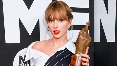 Taylor Swift nhận giải thưởng tại NME Awards 2020 lại còn giơ ngón tay thối đầy tính 'cà khịa'