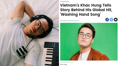 Khắc Hưng với ca khúc 'Ghen cô Vy' được tạp chí Billboard của Mỹ, Nhật hết lời khen ngợi