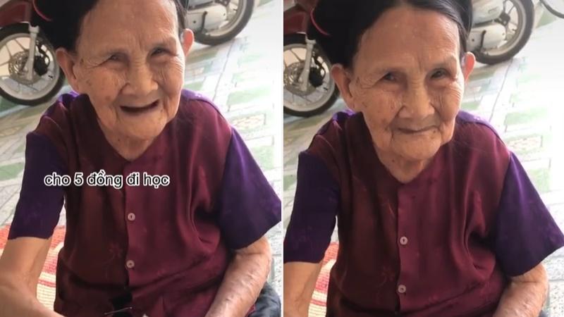 Clip bà nội run run cho tiền cháu trong ngày lên thành phố nhập học khiến người xem cay mắt