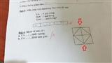 Bài toán hình Tiểu học đang gây tranh cãi cộng đồng mạng, nhìn kỹ mới thấy điểm sơ hở