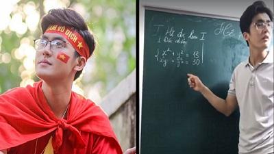 Thầy giáo dạy Toán sở hữu góc nghiêng 'cân' camera thường khi dạy online, tiết lộ cứ ai học chăm thưởng ngay trà sữa