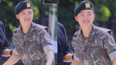 Đang phục vụ quân ngũ thế nhưng D.O. (EXO) vẫn khiến fan truỵ tim vì quá đáng yêu