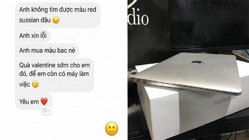 Đòi mua son MAC, cô gái được bạn trai 'tậu' hẳn Macbook về làm quà khiến dân mạng trầm trồ vì quá 'hời'