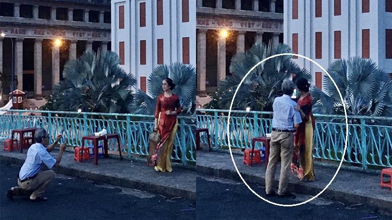 Cụ ông ân cần chỉ vợ cách tạo dáng chụp ảnh: 'Hóa ra tuổi tác chẳng ảnh hưởng gì đến sự lãng mạn cả'