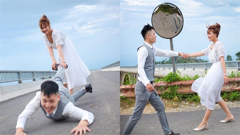 Cặp đôi từng thề không đội trời chung tạo dáng cực lầy lội trong bộ ảnh cưới khiến dân mạng thích thú