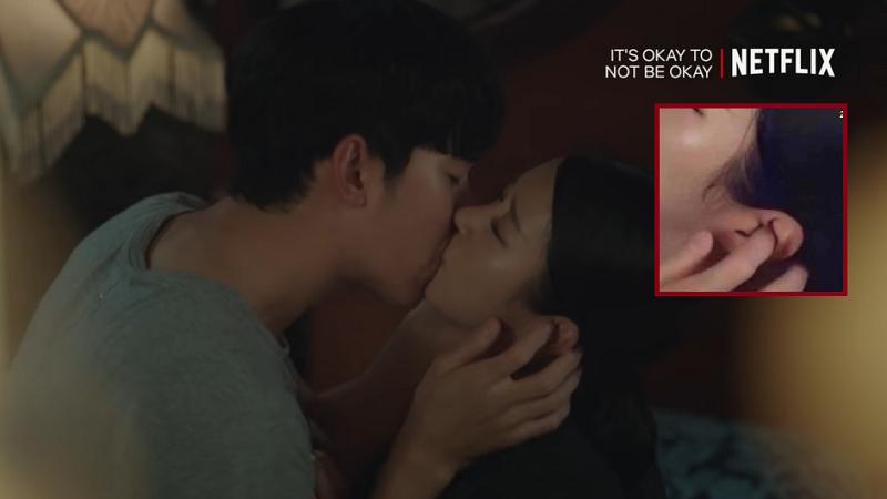 Cảnh hôn mãnh liệt trong 'Điên thì có sao' bị fan soi chi tiết hài hước, Kim Soo Hyun 'bịt tai' Seo Ye Ji để không phải nghe đạo diễn hô 'Cut'?