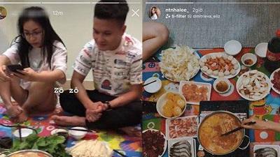 Sau clip hẹn hò ăn cháo đêm, Quang Hải - Nhật Lê lộ tiếp cảnh cùng nhau ăn lẩu: Tái hợp đã là điều chắc chắn!