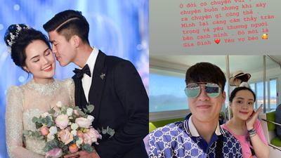Duy Mạnh đăng ảnh tình cảm với Quỳnh Anh sau ồn ào hôn nhân: 'Yêu vợ béo!'