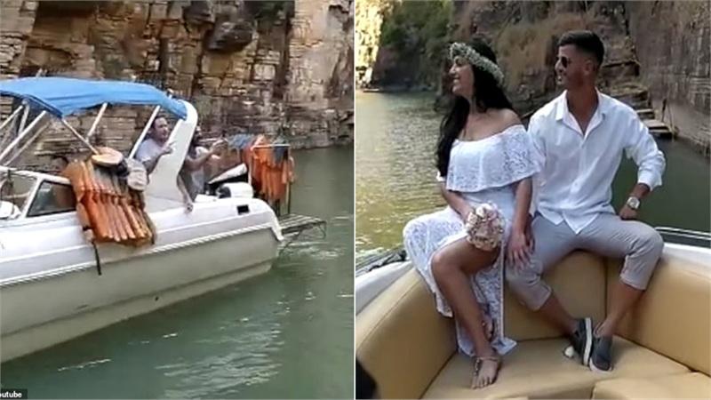 Clip: Cặp đôi đang hạnh phúc bên nhau chụp ảnh cưới thì nhóm người quấy rối thi nhau hú hét 'đừng kết hôn'