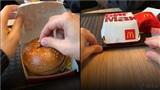 Dân mạng tranh cãi về clip chàng trai cầu hôn bằng cách nhét nhẫn vào bánh hamburger rồi đưa cho bạn gái