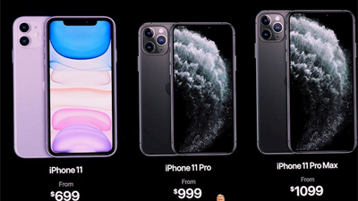 Bảng giá chi tiết iPhone 11, iPhone 11 Pro, iPhone 11 Pro Max và iPhone 8, iPhone XR