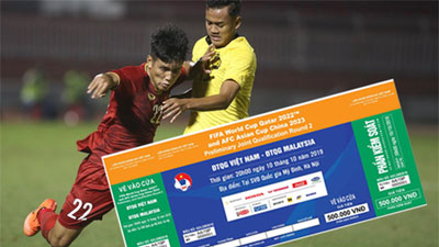 Vé trận Việt Nam - Malaysia được thông báo hết sau... 3 phút