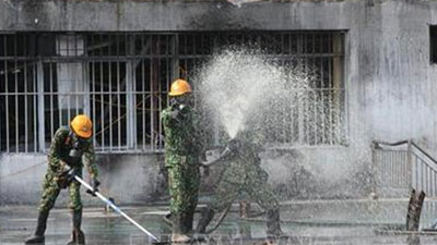 Hoàn thành việc tiêu tẩy hiện trường vụ cháy Công ty Cổ phần Bóng đèn, Phích nước Rạng Đông