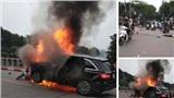 Xe Mercedes GLC bốc cháy dữ dội sau khi đâm 3 xe máy khiến 1 phụ nữ tử vong